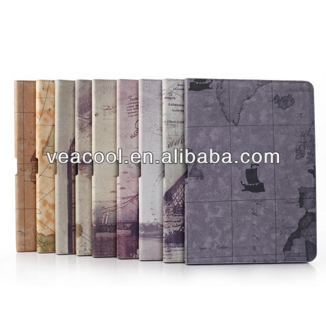 Retro Old Leather Case Cover for Samsung Galaxy Note 10.1 2014 Edition P600 P601 Stand Case