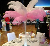 custom logo ostrich feathers wedding table centerpieces for vases