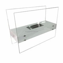 Free Standing Portable Glass Bio Ethanol Fireplace