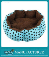 Round Dot Plush Cushion Pet Nest Bed Kennel Small Dog/Cat Bed Pet Supplies
