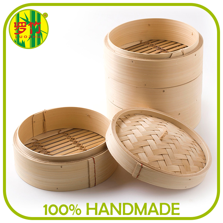 High Quality Luo Bamboo Material Commercial Bambus Dim Sum Steamer