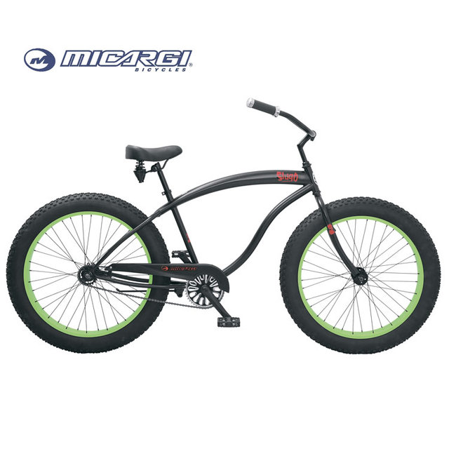 Micargi 26 fat tire bike SLUGO retro beach cruiser adult chopper bicycle