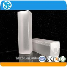 Factory direct display plastic clear PVC folded box packaging oblong plastic box