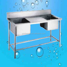 Factory price kitchen stainless steel sink work table, outdoor sink table, restaurant kitchen sink table(211601)