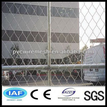 alibaba factory Anping Hepeng Brand Galvanized / PVC Coated Chain Link Fence / Chain Link Mesh