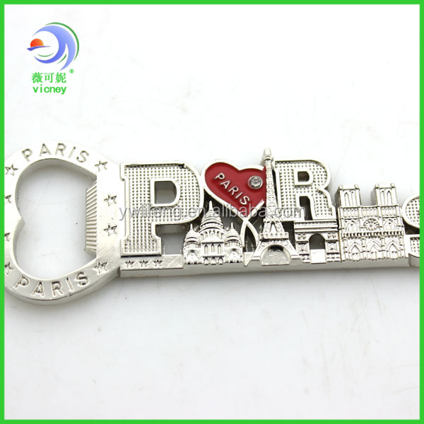 Custom Souvenir Paris Metal Fridge Magnets City World
