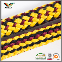 High quality woven yellow stove tensile ropes braided fiberglass square rope