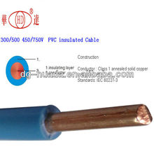 alibaba china copper ore Single Core Ho5v-UH07v-U wire cable 2.5mm2