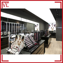 Elegant black cosmetic shop furniture interior design