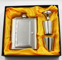 hot sale stainless steel hip flask gift set portable wine pot