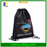 Custom cheap polyester drawstring bag backpack