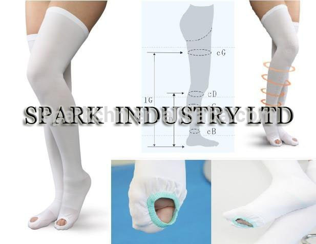 Manufacture supplier Anti Embolism Thigh High compression Stocking relieve varicose veins