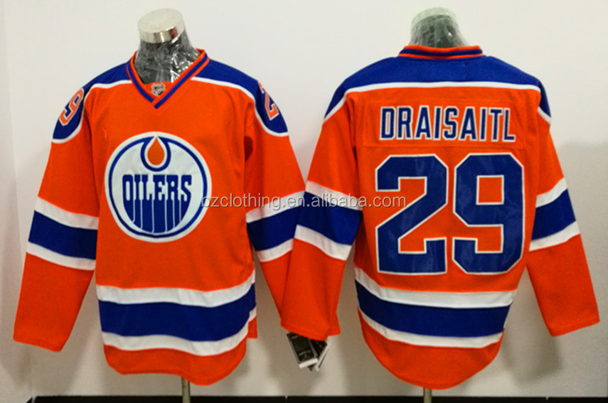 Edmontonn Oilers Leon Draisaitl #29 Orange NHL Ice Hockey Jersey