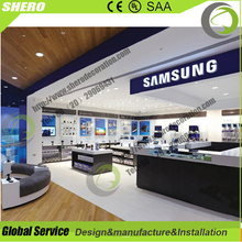 Amazing design cell phone display showcase furniture mobile phone shop names design