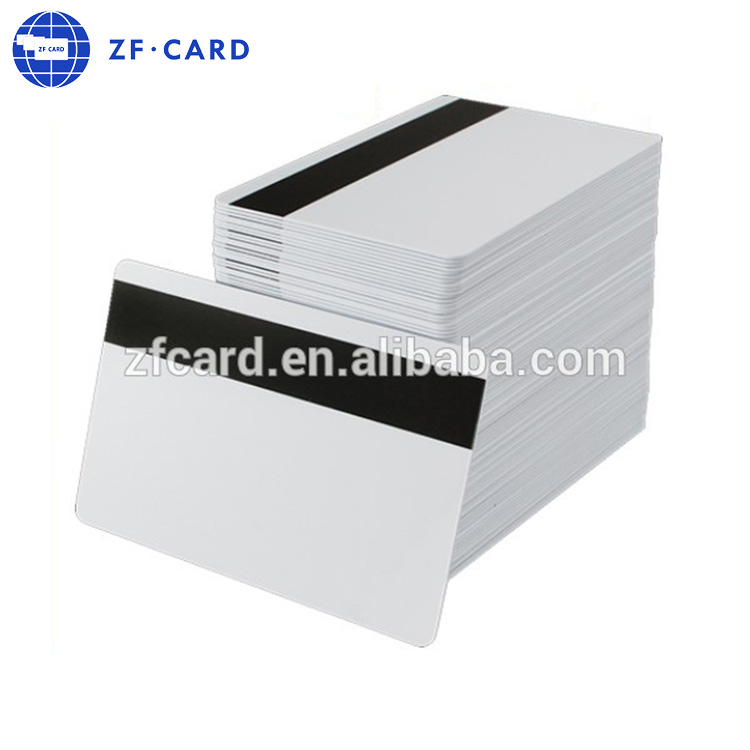Alibaba on line sold inkjet white card with magnetic stripe