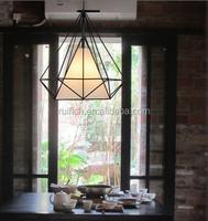 pendant lights Scandinavian modern minimalist pyramid light iron light with LED bulb
