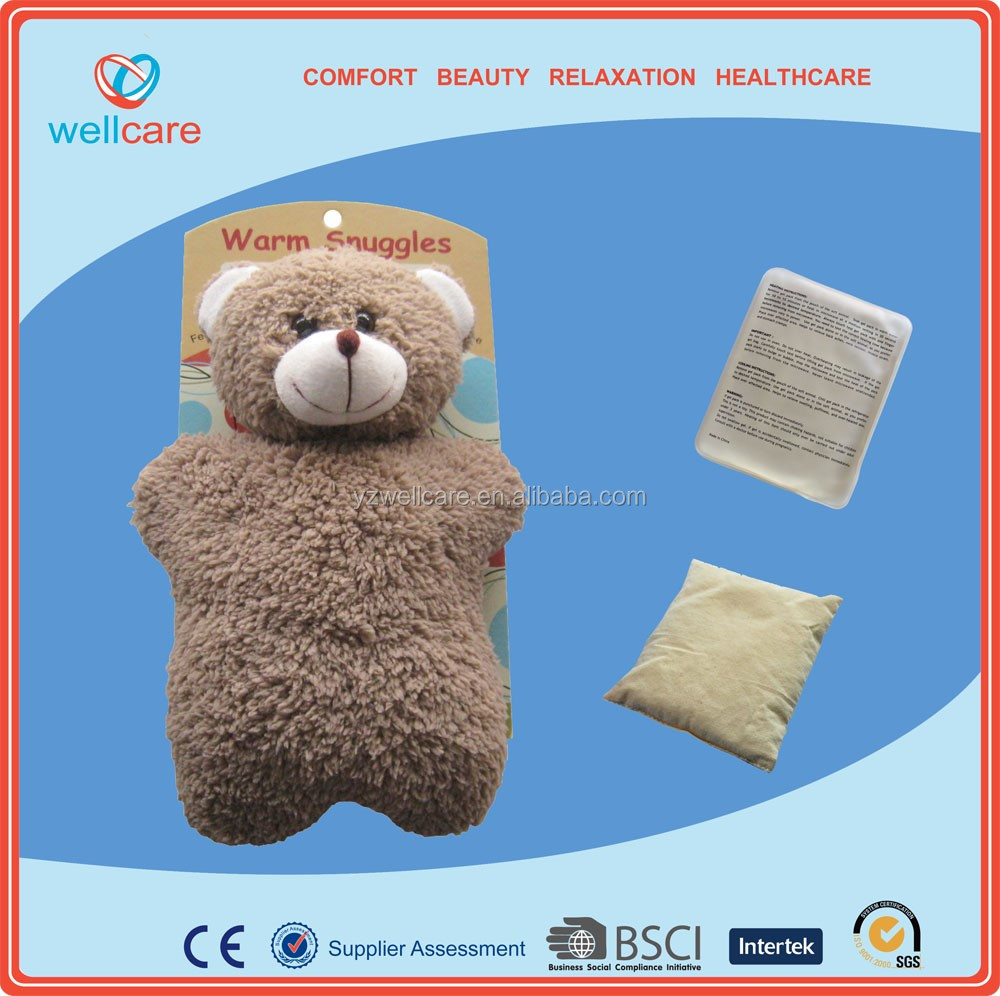 soft plush teddy bear microwave toy heat cold bag manufacturer