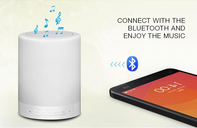 Mini Wireless Bluetooth Outdoor Indoor Speakers With Touch Sensor LED Music Light Bluetooth