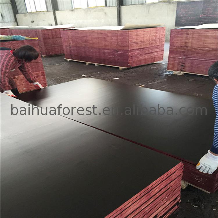 Black film faced plywood for concrete formwork