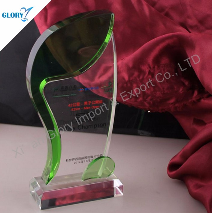 wholesale New colorful glass trophy Award 2017