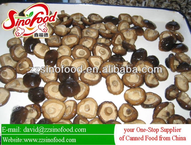 chinese canned shiitake mushroom whole /p&s in brine