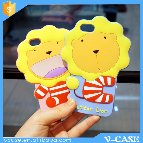 Color printing Cute Cartoon 3D tpu silicon phone case for samsung galaxy s duos s7562