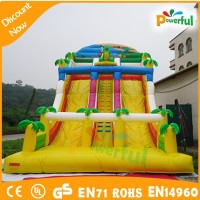 big outdoor green inflatable dragon slide/inflatable water slides for sale