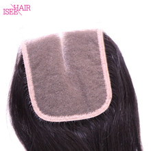 4X4 Free Sample Closure Raw Unprocessed Brazilian Hair Straight Silk Top Lace Closure