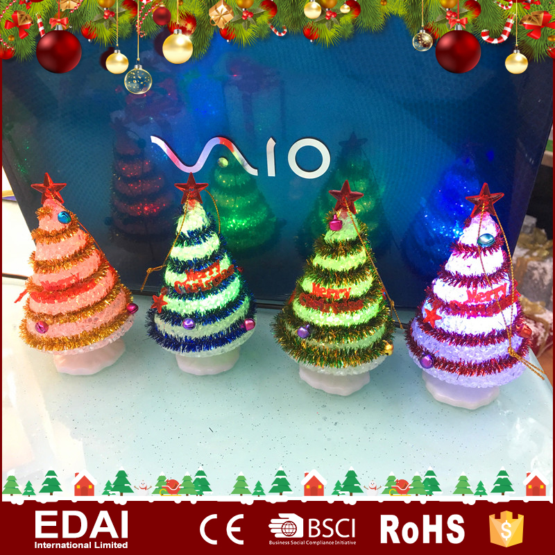 Popular glitter Christmas tree 4ass LED colorful holiday time christmas lights