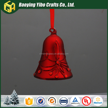 wholesale christmas glass bell decoration craft supplies from China