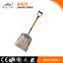 long handle wide aluminum head mini snow shovel