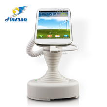 Elegant white cell phone mount holder with secure alarm function