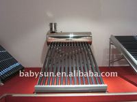 2014 Latest stainless steel compact non-pressure solar water heater price for India