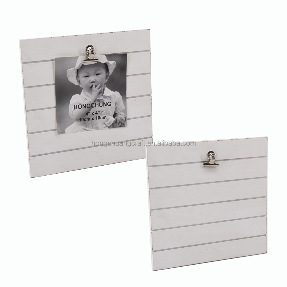 Desktop Home Decoration wood clip clamps photo frame