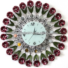 acrylic glass round home decorative art wall glass painting clock