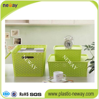 New Model Plastic Storage Basket with Lid