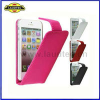 100% Fit Credit Cards Flip Leather Phone Case for IPhone 5C