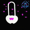 Beautiful heart shaped concentric love lock