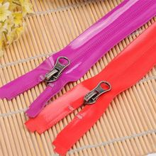Factory price pu outdoor pure color garment accessory waterproof zipper