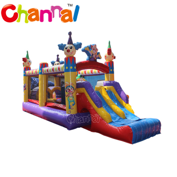 Small inflatable clown obstacle course inflatable kids obstacle