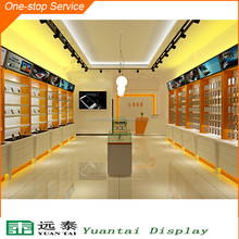 Mobile phone shop interior design display showcase with LED light