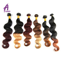 Double Drawn 9A Virgin Human Hair, Brazilian Human Hair Extension, Cheap Indian 100 Virgin Human Hair Weave