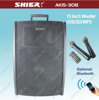 Professional 15 inch AK15-308 USB SD portable DJ Stage Equipment