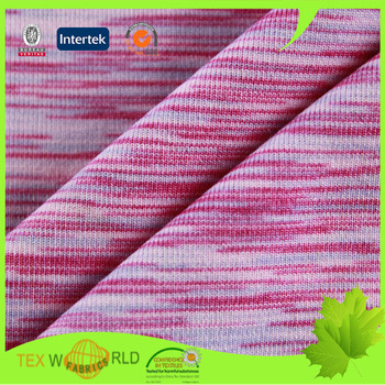 Textile knitting stretch space dyed lycra polyester fabric for Lycra space fabric