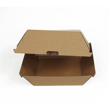 disposable high quality corrugated kraft paper hamburger packaging boxes