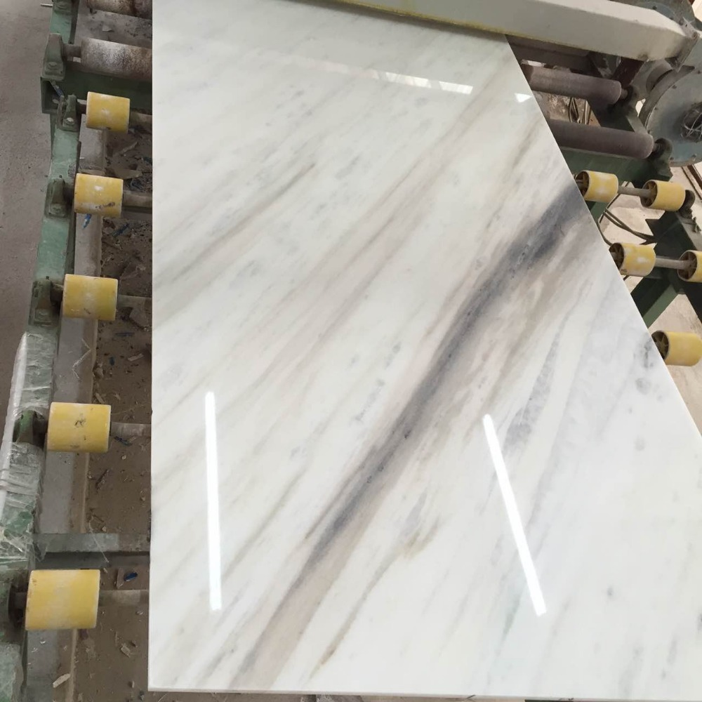 new marble of 2017 from china, white colour with grey vain