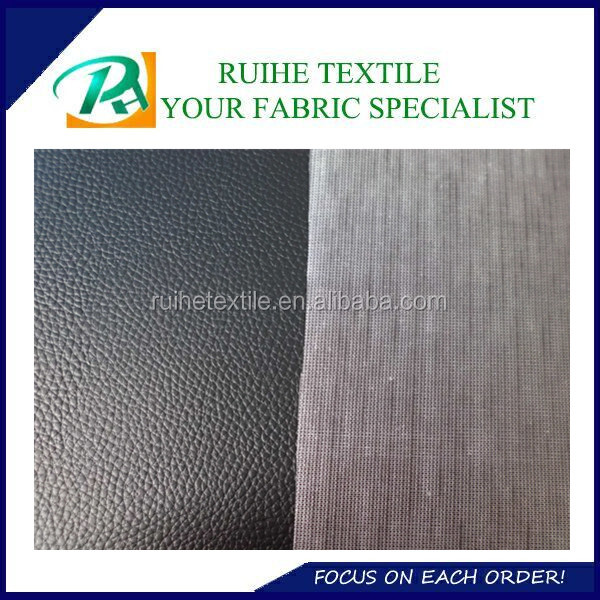 Popular Lichee Pattern PVC Artificial Leather Material Fabric Faux Leather