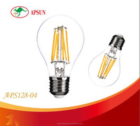 China Alibaba Express CRI 90 Meanwell Driver Dimmable 6W LED filament bulbs with 3 years Warranty