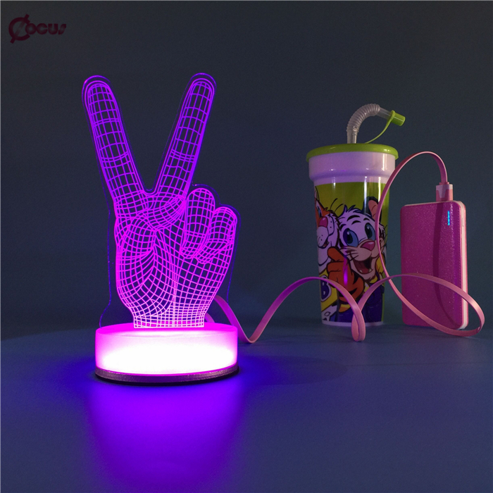 Wholesale acrylic 3D LED desk lamp for bedroom decoration,acrylic 3D led lamp