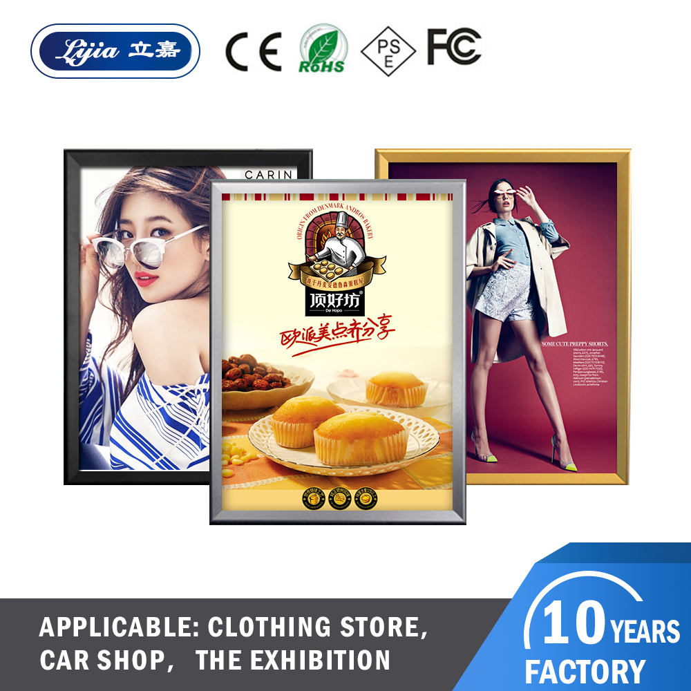 lijia led alumium slim light box Restaurant menu for fast food